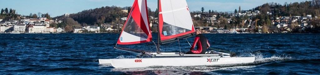Der X-Cat als Segelboot